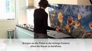 Alu Verbundplatte Küche : montage der k chenr ckwand youtube ~ Orissabook.com Haus und Dekorationen