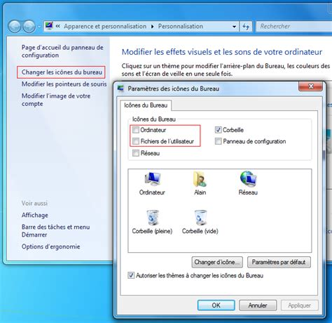 comment faire apparaitre la corbeille sur le bureau comment afficher la corbeille sous windows 7