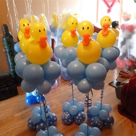 Rubber Ducky Balloon Centerpieces Great For Baby Showers