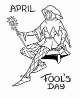 Coloring April Jester Fool Court Fools Pages Printable Drawing Sheet Holiday Activity Gras Mardi Easter Sheets Activities Honkingdonkey Pdf Getcoloringpages sketch template