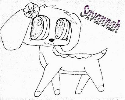 Lps Popular Coloring Pages Savanah Collie Savvy