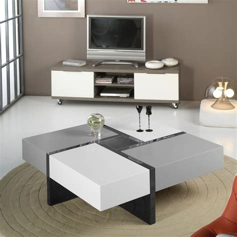 Table Basse Carre Grise