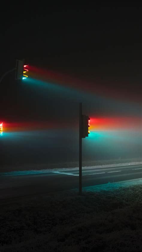 papersco iphone wallpaper bb light night street