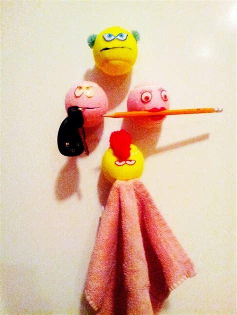 crazy tennis ball craft fun   arts