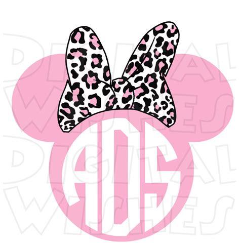 minnie mouse monogram monogram pink leopard print minnie mouse ears heads