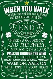 You'll never walk alone   Music   Pinterest   Celtic fc ...