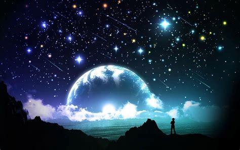 cielo brillante noche fondos de pantalla gratis