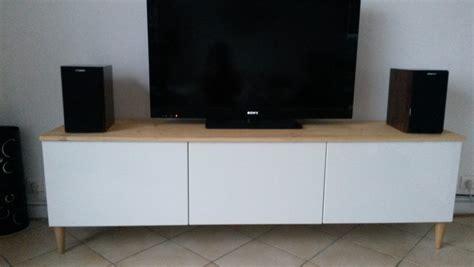 plateau de bureau sur mesure meuble tv avec besta ikea bidouilles ikea