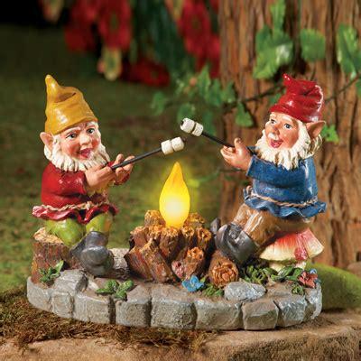 solar campfire light garden gnomes  collections
