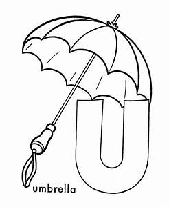 abc coloring sheet letter u is for umbrella u is for With printable umbrella template for preschool