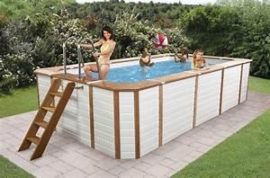 Piscine Hors Sol 4x2 : piscina fuori terra rettangolare technypools premium 500 395 x 265 h130 ~ Melissatoandfro.com Idées de Décoration