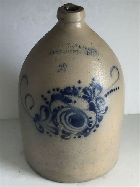 antique stoneware cobalt blue 2 gallon jug crock ebay 25 best ideas about antique stoneware on