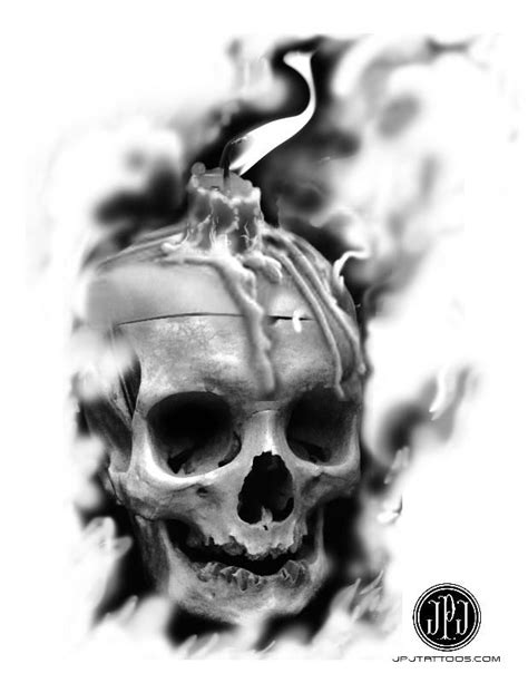 Jose Perez Jr - Skull Candle   skulls   Skull tattoos, Skull, Skull candle