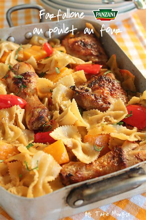 pate au four panzani poulet aux farfallone panzani cuites au four dans le jus de cuisson
