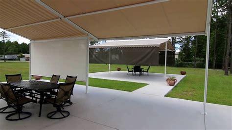 retractable patio cover retractable patio roofing system venetian builders youtube