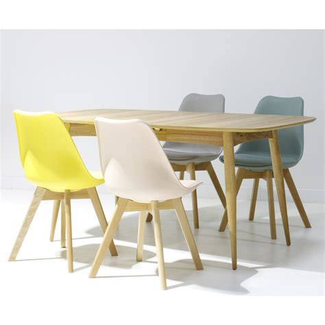 chaises scandinave chaise scandinave pieds bois loumi vert thym
