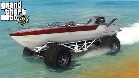 Boat Car And Truck by Gta 5 Epic Boat Mobile Mod 4x4 Roading Mudding