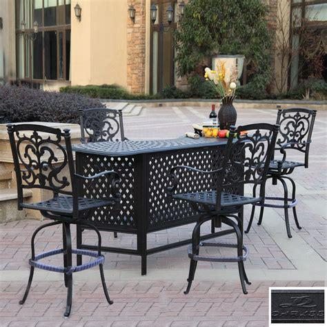 shop darlee 5 santa barbara cast aluminum patio bar