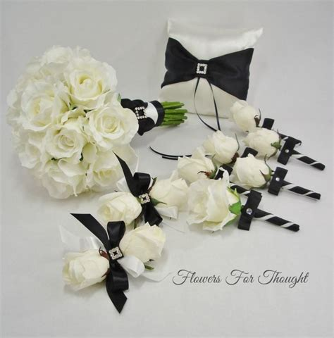 Black And White Bridal Package Fft Design Real Touch