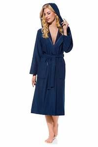 Morgenmantel Damen Günstig : damen bademantel leicht lang celia blau morgenstern ~ Watch28wear.com Haus und Dekorationen