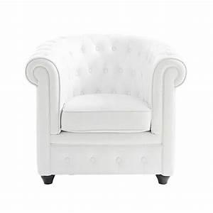 Fauteuil Crapaud Maison Du Monde : fauteuil club capitonn blanc chesterfield maisons du monde ~ Melissatoandfro.com Idées de Décoration