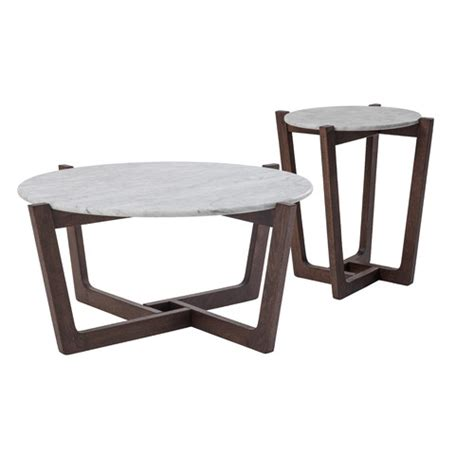 Unie modern nesting coffee table set of 2, round accent coffee table with faux marble wood top & gold metal frame for living room, office, balcony 4.7 out of 5 stars 8 $116.99 $ 116. Estudio Furniture Monterey White Marble Coffee & Side Table Set & Reviews   Temple & Webster