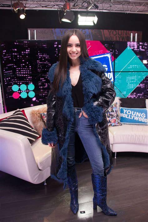 sofia carson visits  young hollywood studio  la