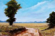 Oil Painting Country Road