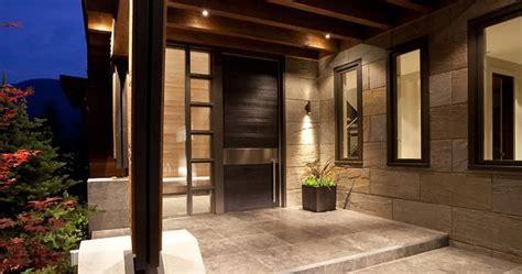 contoh teras rumah minimalis modern desain gambar
