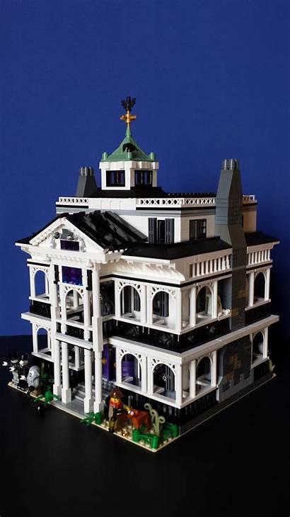 Lego Haunted Mansion Disneyland Side Ghosts Castle