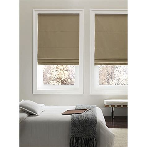 Buy Real Simple®cordless Fabric Roman Shade From Bed Bath