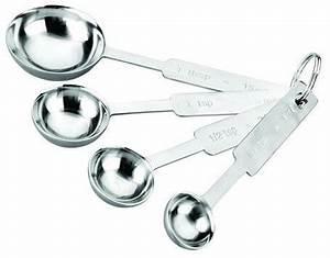 Cuillères Et Cup à Mesurer Inox : set 4 cuill res de mesure ustensile patisserie ~ Teatrodelosmanantiales.com Idées de Décoration