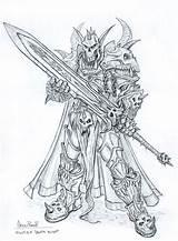 Warcraft Knight Elf Death Night Coloring King Lich Wrath Dessin Drawings Sketch Creativeuncut Character Elfe Rane Glenn Deviantart Deathknight Drawing sketch template