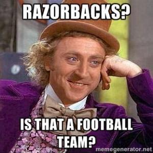 Funny College Football Memes - arkansas razorbacks jokes kappit
