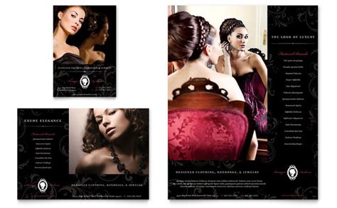 formal fashions jewelry boutique flyer ad template design