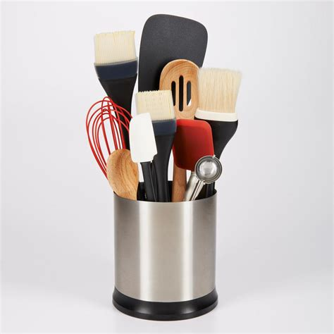oxo utensil holder oxo grips stainless steel utensil holder with 1358