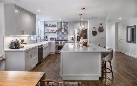 west island kitchen west open grey white kitchen remodel