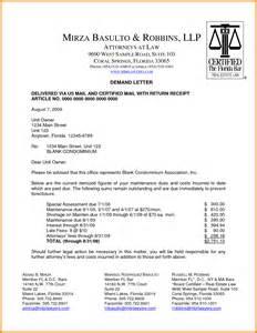 Legal Demand Letter Sample