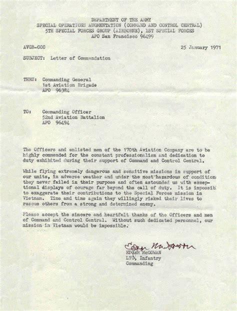 letter of commendation exles of a letter of commendation letter of