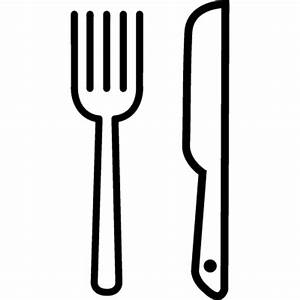 Knife and Fork outline ⋆ Free Vectors, Logos, Icons and ...