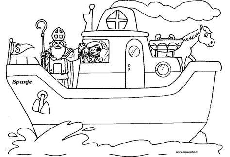 Kleurplaat Sint En Piet Op Fiets by Sinterklaas Kleurplaten Sint En Piet Zwarte Piet En