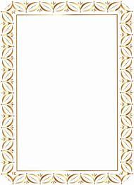 Transparent Gold Frame Border Clip Art