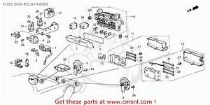 Honda Crx 1987  H  2dr Si  Ka Kl  Fuse Box-relay-horn