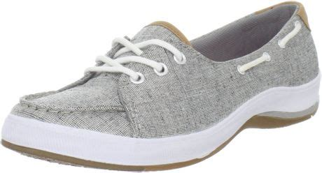 Keds Silver Boat Shoes by Keds Keds Womens Portside Boat Shoe In Gray Silver Lyst