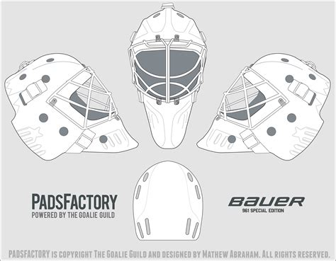 mask templates  goalie archive