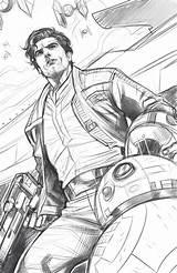 Torque Elizabeth Poe Dameron Star Wars Fanart Pages Bb8 Coloring Isaac Oscar Colouring sketch template