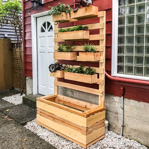 diy vertical garden wall planter  plans  handyman