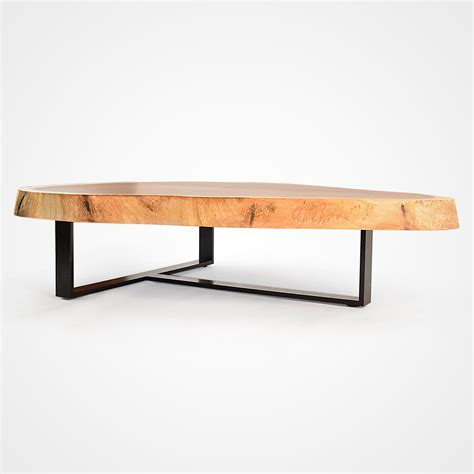 free form wood coffee tables free form wood coffee table blackened metal base