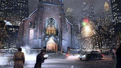 Christmas Religious Winter Amazing Colorful Church Tree