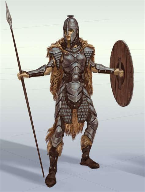 Steel Armor Concept Art From The Elder Scrolls V Skyrim